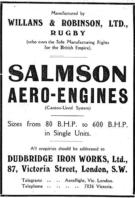 Willans & Robinson Ltd Rugby - Salmson Aero Engines