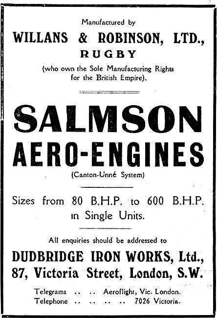Salmson Aero Engines - Dudbridge Iron Works