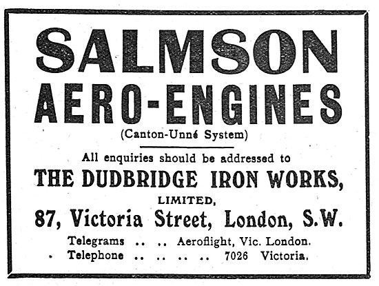 Salmson Aeo-Engines. Dudbridge Iron Works