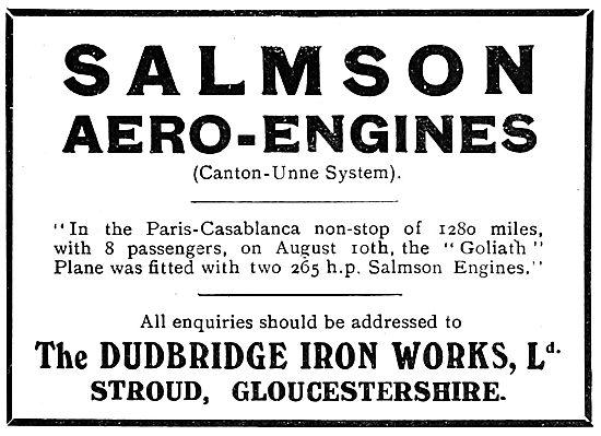 Salms Aero Engines - Dudbridge Iron Works. Stroud. Goliath