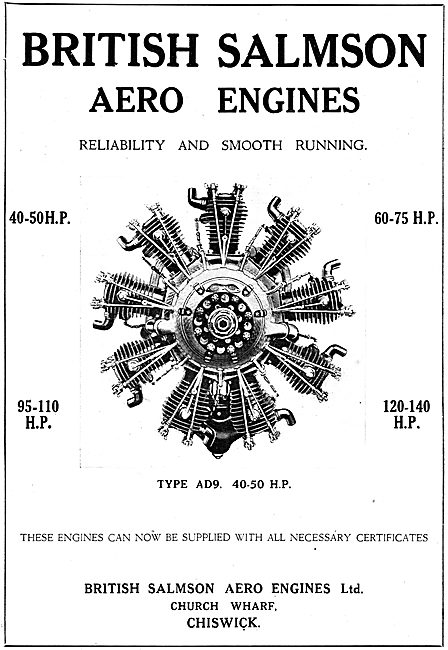 Salmson Type AD9 40-50 HP Aero Engine