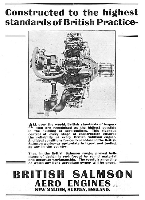 Salmson Aero Engines In Use Worldwide
