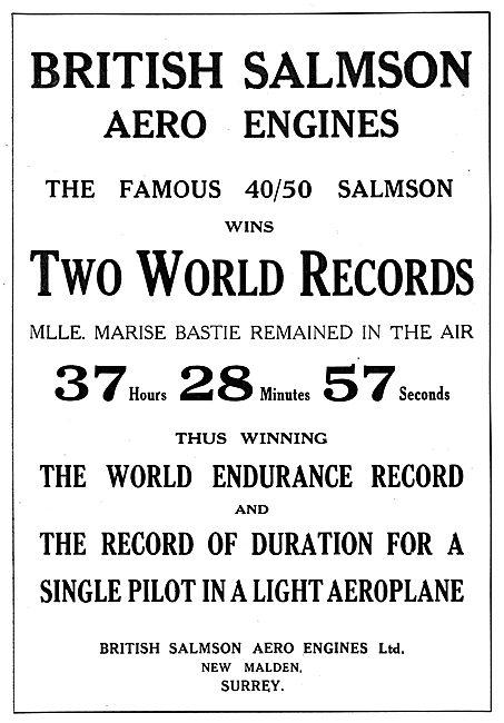 British Salmson Aero Engines Hold World Records