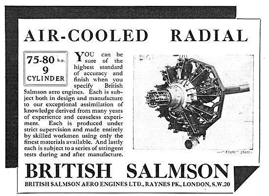 British Salmson 75-80 HP 9 Cylinder Aero Engine