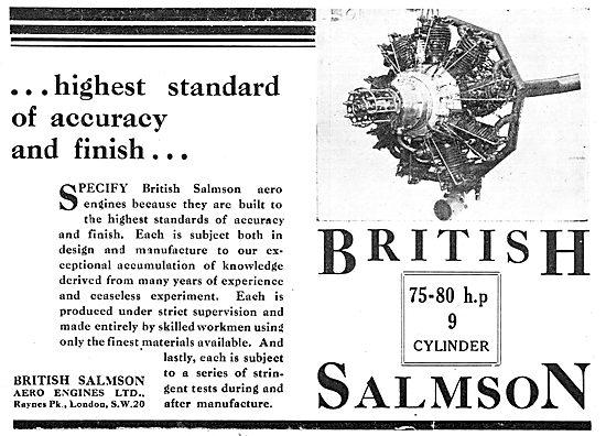 British Salmson Radial Aero Engines
