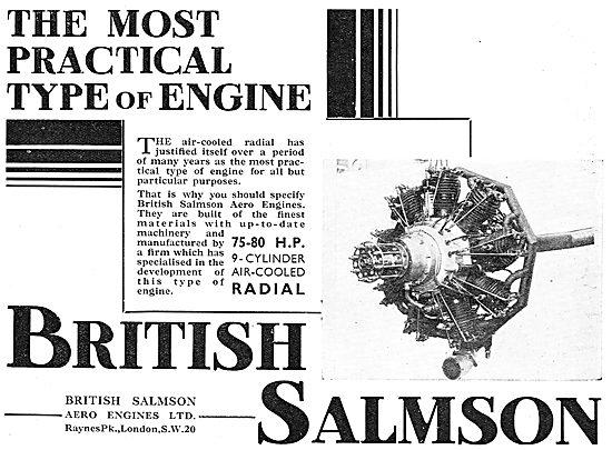 British Salmson Air Cooled Radial Aero Engines - 75-80HP