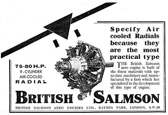 British Salmson 80 HP Radial Aero-Engine