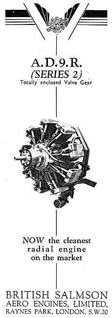 British Salmson AD9R Series Aero Engine