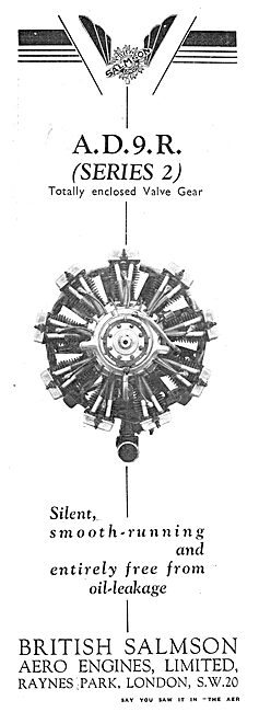 British Salmson AD9R (Series) Aero Engine