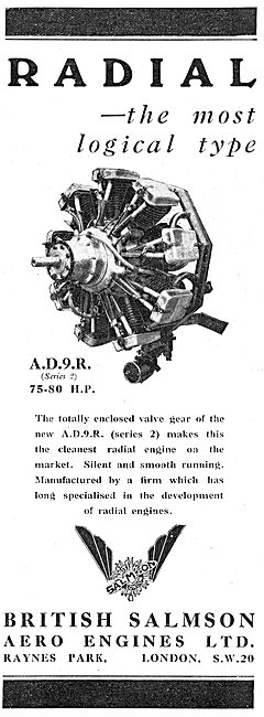 British Salmson AD9R Aero Engine