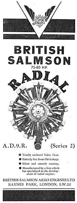 British Salmson AD9 Radial Aero Engine