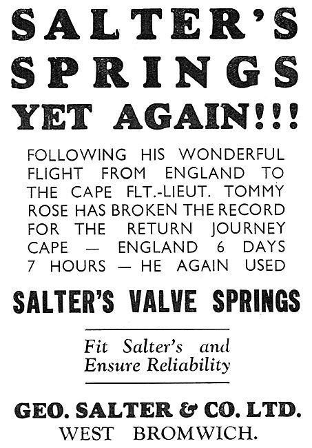 Salter's Valve Springs - Tommy Rose