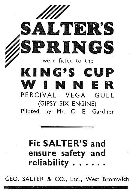 Salter's Valve Springs - Kings Cup Success