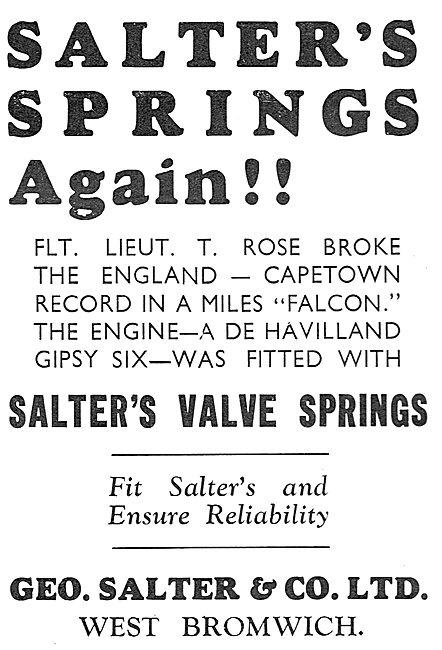 Salter's Valve Springs