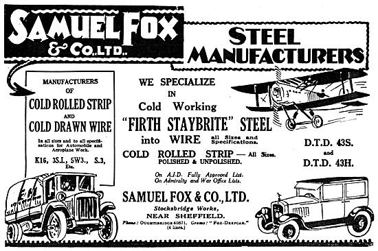 Samuel Fox Steel Manufacturers