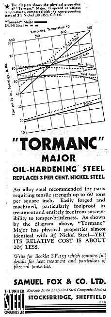 Samuel Fox - Tormanc Oil-Hardening Steel