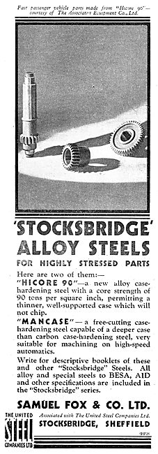 Samuel Fox - Stocksbridge Alloy Steels. Highcore 90.