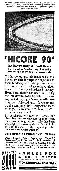Samuel Fox - Highcore 90 Alloy Case Hardening Steel For Gears