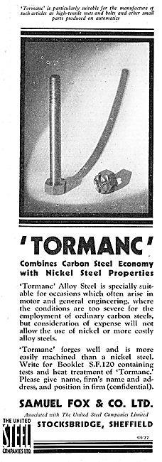 Samuel Fox - Tormanc Alloy Steel.