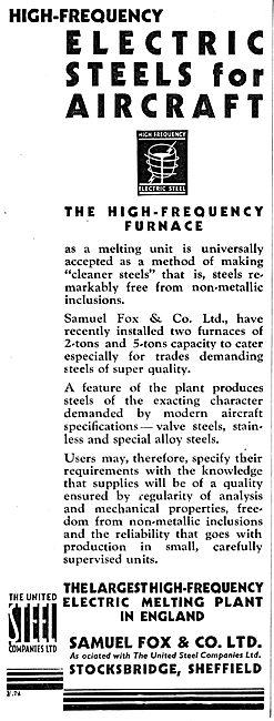Samuel Fox High Frequency Electric Steels