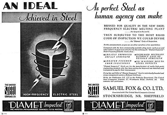 Samuel Fox - United Steel - DIAMET High Frquency Electric Steel