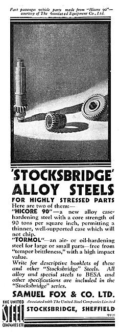 Samuel Fox Stocksbridge Alloy Steels Hicore 90 Tormol