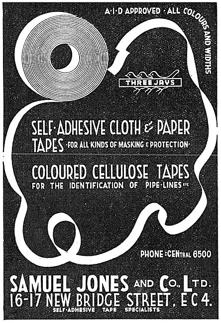 Samuel Jones Tapes - Cloth & Paper Tapes