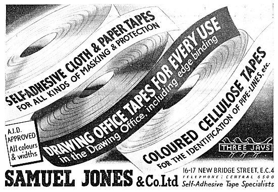 Samuel Jones Self Adhesive Cloth & Paper Marking Tapes  1943
