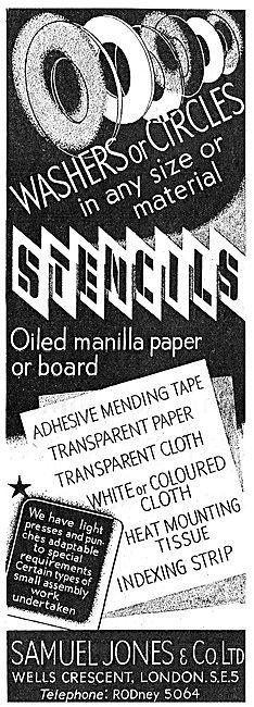 Samuel Jones Stencils, Tapes, Transfers & Paper Products