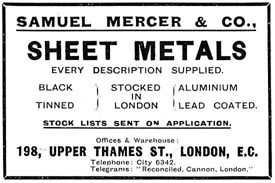 Samuel Mercer & Co - Sheet Metal Suppliers