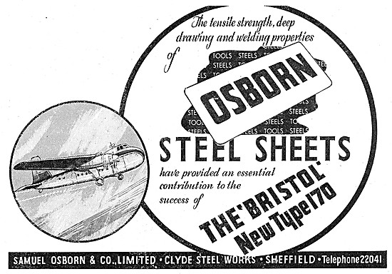 Samuel Osborn Steel Works. Steel Sheets Engineers Tools