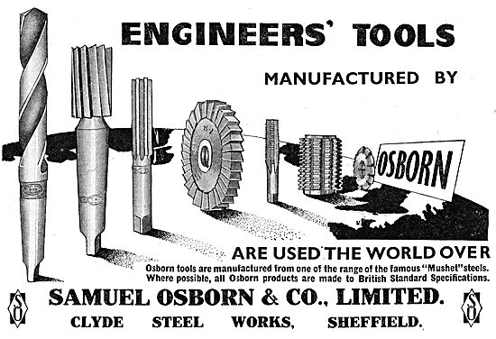 Samuel Osborn. Clyde Steel Works. Engineers Tools