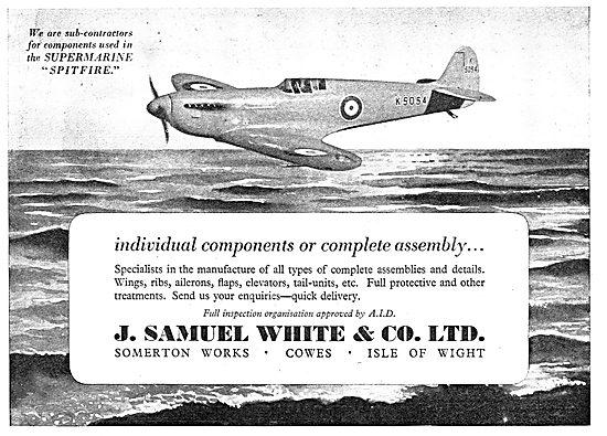 Samuel White Components & Sub-Assemblies 1939
