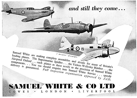 Samuel White Aircraft Assembly Manufacture 1939