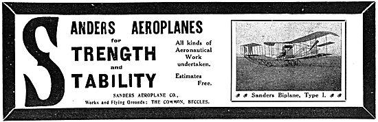 Sanders Aeroplanes - Sanders Biplane 1911
