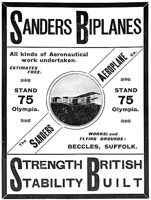 Sanders Aeroplanes - Sanders Biplane