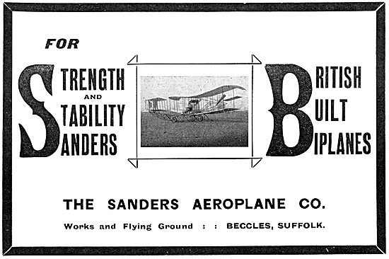 Sanders Aeroplanes 1911