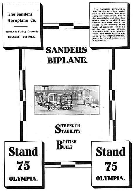 The Sanders Aeroplane Co. Sanders Biplane