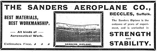 The Sanders Biplane Unrivalled For Strength & Stability