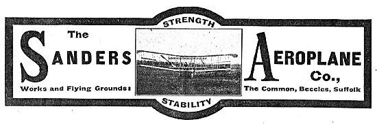 The Sanders Aeroplane Co Beccles