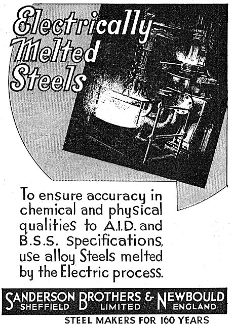 Sanderson Brothers & Newbould. Electrically Melted Steels