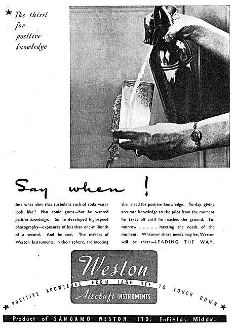 Sangamo Weston. Weston Aircraft Instruments 1942
