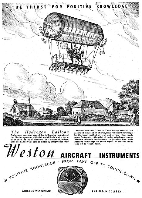 Sangamo Weston. Weston Aircraft Instruments