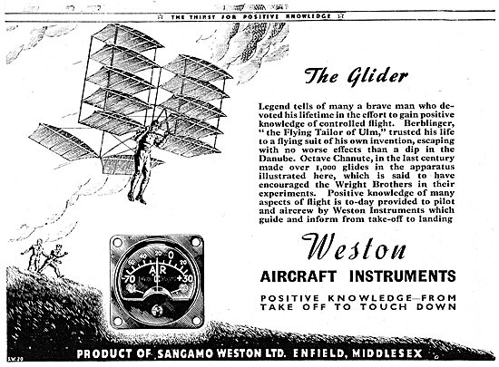 Sangamo Weston. Weston Aircraft Instruments 1943