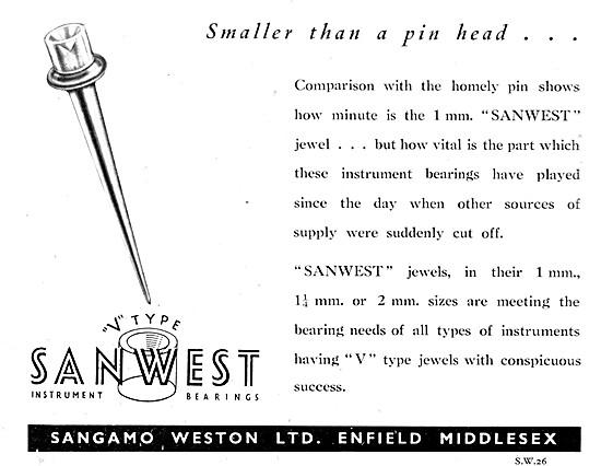 Sangamo Weston Instrument Jewel V Type SANWEST Jewel