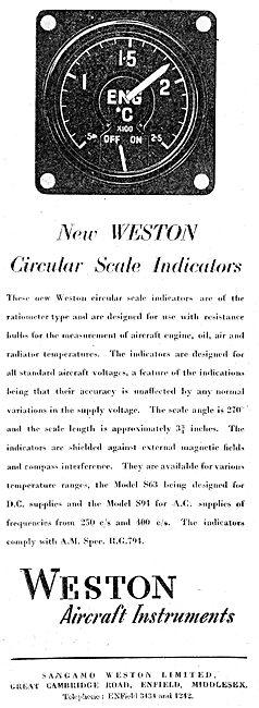 Sangamo Weston. Weston Aircraft Instruments 1949