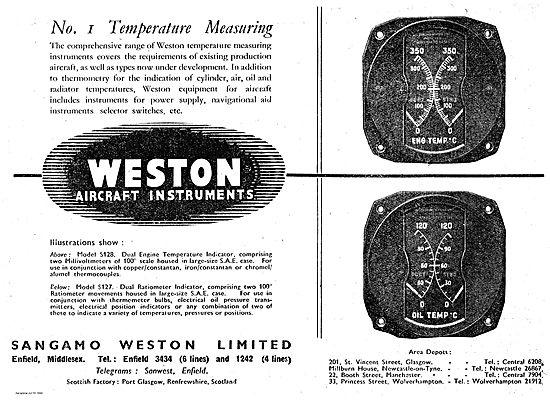 Sangamo Weston Aircraft Instruments.