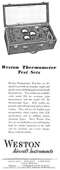 Sangamo Weston. Weston Aircraft Instruments & Test Equipment