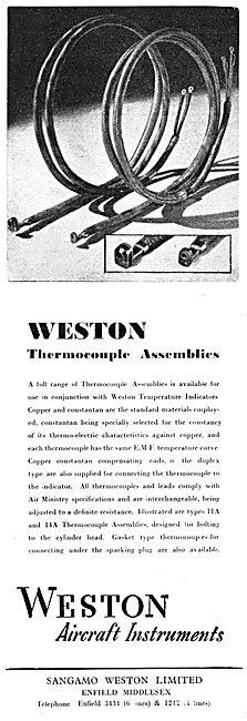 Sangamo Weston. Weston Aircraft Instruments & Assemblies