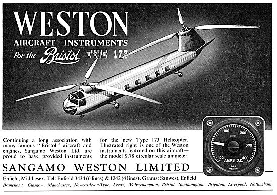 Sangamo Weston. Weston Aircraft Instruments - Ammeter